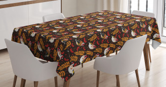 Goldfinch Berry Pattern Tablecloth