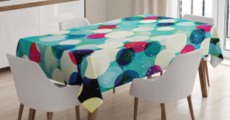 Worn Out Retro Rhombus Tablecloth