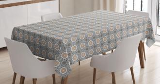 Moroccan Folklore Arabesque Tablecloth