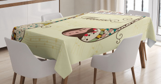 Keyboard Musical Note Tablecloth