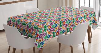 Polish Ethnic Flora Tablecloth