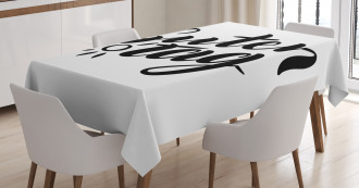 Hand Lettering Guten Tag Tablecloth
