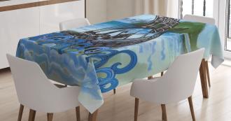 Drekar Boat Warrior Sea Tablecloth