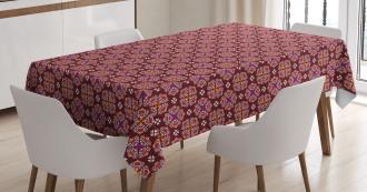 Ornamental Floral Swirls Tablecloth