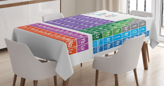 Periodic Table Elements Tablecloth
