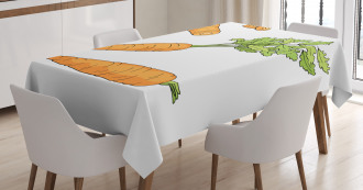 Carrot Pattern Tablecloth
