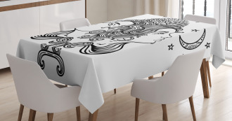 Mystic Happy Sad Tablecloth