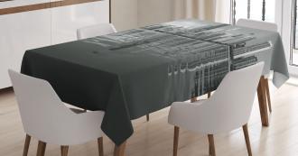 Harbor Coastal Town Tablecloth