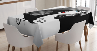 Abstract Glamor Woman Tablecloth