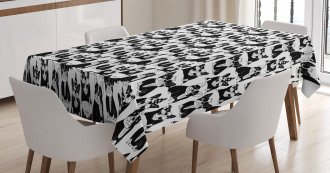 Doodle Funny Puppies Tablecloth