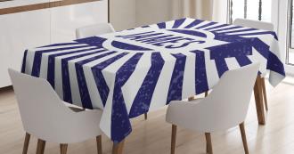 Nautical Grunge Name Tablecloth