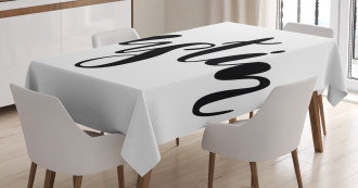 Modern Popular Male Name Tablecloth