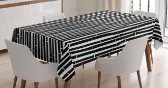 Black and White Stems Tablecloth