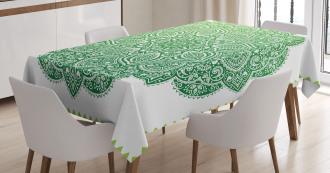 Ornate Floral Design Tablecloth