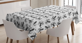Typographic Silhouettes Tablecloth