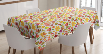 Colorful Leafage Woodland Tablecloth