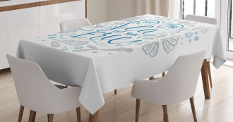 Marine Quote with Fish Tablecloth