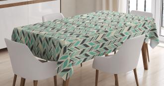 Grunge Zigzag Design Tablecloth