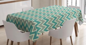 Angular Stripes Pattern Tablecloth