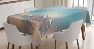 Milky Way and Himalayas Tablecloth