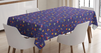 Space Characters Galaxy Tablecloth