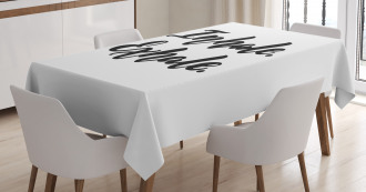 Brush Ink Quote Tablecloth