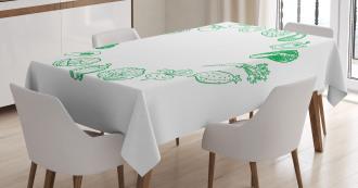 Eat More Organic Tablecloth