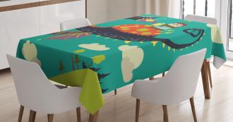 Fantasy Dragon Rider Tablecloth