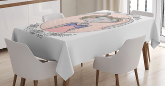 A Bunny Portrait Tablecloth