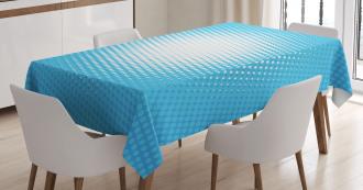 Sunny Haze Faded Dots Tablecloth