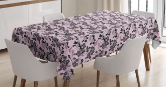 Abstract Forget Me Not Tablecloth