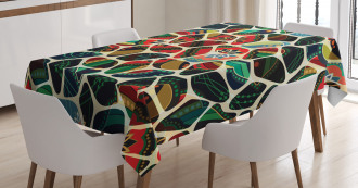Floral Asian Mosaic Tablecloth