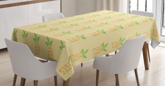 Watercolor Pineapple Tablecloth