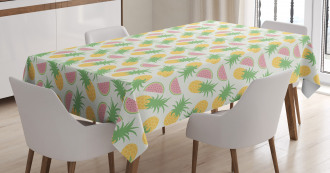 Watermelon and Dots Tablecloth