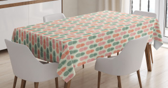 Pineapple Silhouettes Tablecloth