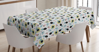Hats Pineapples Stars Tablecloth