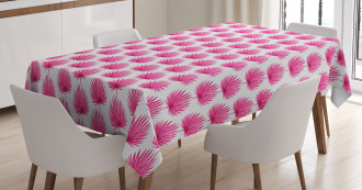 Pink Forest Leaves Tablecloth