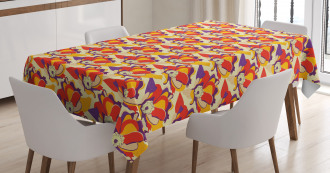 Colorful Poppy Garden Tablecloth