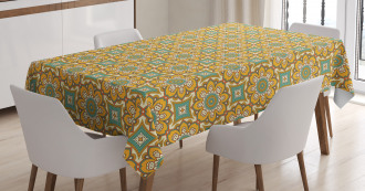 Tribal Petals and Leaves Tablecloth