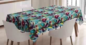 Grungy Geometric Art Tablecloth
