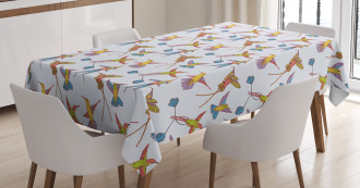 Tropical Exotic Wildlife Tablecloth