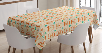 Vintage Minivans Peace Tablecloth