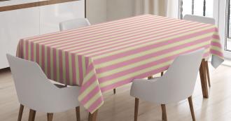 Retro Pastel Colors Tablecloth