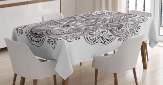 Ethnic Swirls from East Tablecloth