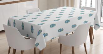 Bicolor Oriental Hand Tablecloth