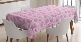 Pastel Spring Bloom Tablecloth
