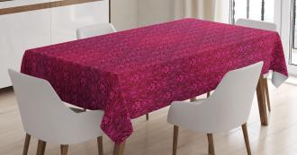 Monochrome Flowers Tablecloth