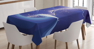 Heavy Storm in the Ocean Tablecloth