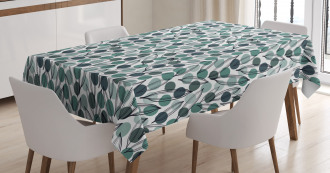 Ink Paint Leaves Dots Tablecloth