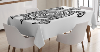 Turtle Spirals Tablecloth